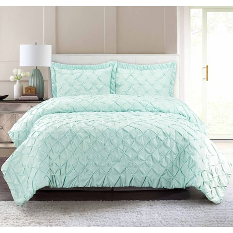 Pur Luxe Pintuck 3-piece Quilt Set