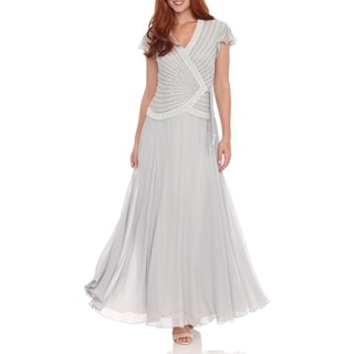 J Laxmi Women's Silver Beaded-bodice Dress