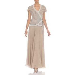 J Laxmi Women's Champ Beaded-bodice Dress
