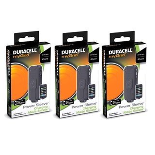 Duracell myGrid Power Sleeve for Apple iPhone (3 Pack)