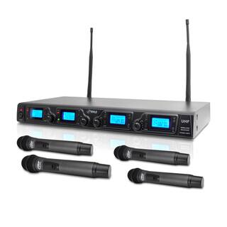Pyle PDWM4360U Wireless Microphone System UHF Quad Channel with 4 Rack Mountable Handheld Microphones|https://ak1.ostkcdn.com/images/products/11150066/P18147600.jpg?impolicy=medium