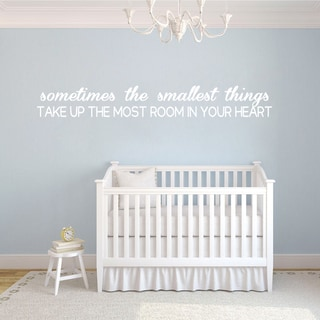Link to Sometimes The Smallest Things Wall Decal 75-inch wide x 10-inch tall Similar Items in Games & Puzzles