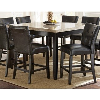 Greyson Living Malone Counter Height Marble Top Dining Table - Espresso