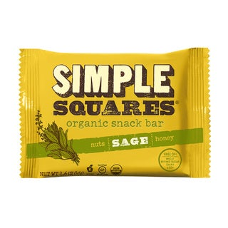 SIMPLE Squares Organic Sage Nutrition Bars (Pack of 12)