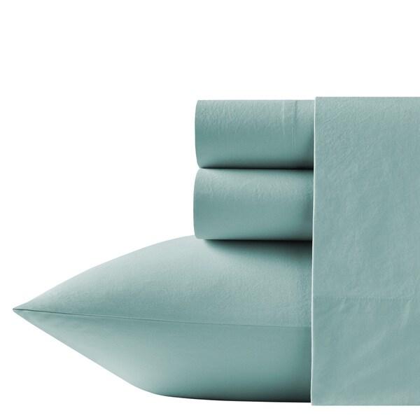 New Tommy Bahama Stone Washed WHITE Bed Sheet Set~NEW~KING 4 Piece 222866