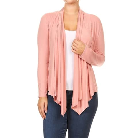 MOA Collection Women's Plus Size Open Cardigan