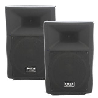 Podium Pro PP1207A Bluetooth 12-inch Active Speaker Pair MP3 1200W PA DJ Karaoke PP1207A-PR