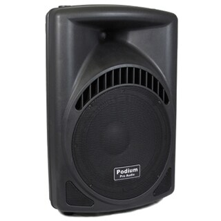 Podium Pro PP1204CD 600 Watts DJ PA Karaoke Powered 12-inch Speaker with MP3 Player