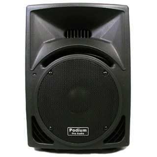 Podium Pro PP1010 PA DJ Karaoke 550W Black Pro Audio 10-inch Two Way ABS Plastic Speaker