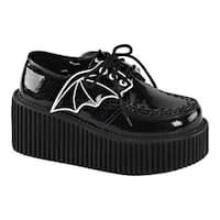 Women's Demonia Creeper 205 Creeper Black Glitter Vinyl