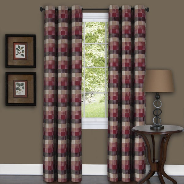 achim harvard burgundy curtain panel - free shipping on orders