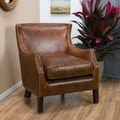 Tillo Top Grain Vintage Brown Leather Club Chair by Christopher Knight Home