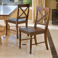 Rovie Acacia Wood Dining Chair (Set of 2) by Christopher Knight Home