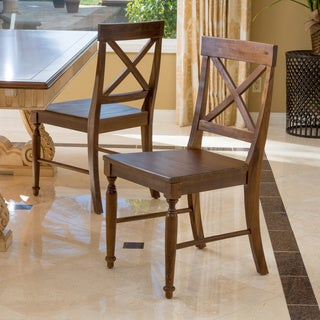 Rovie Acacia Wood Dining Chair (Set of 2) by Christopher Knight Home (2 options available)