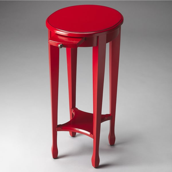 Butler Transitional Round Accent Table - Light Red