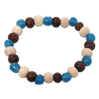 Ceramic Albesia Wood 'Colorful Morning' Bracelet (Indonesia)