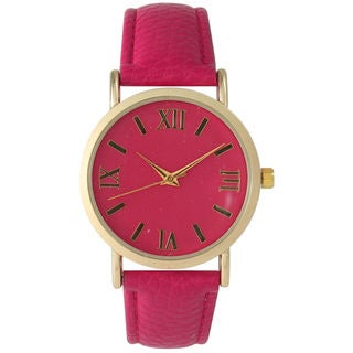 Olivia Pratt Women's Colorful Leather Boyfriend Watch