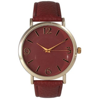 Olivia Pratt Women's Simple Leather Watch