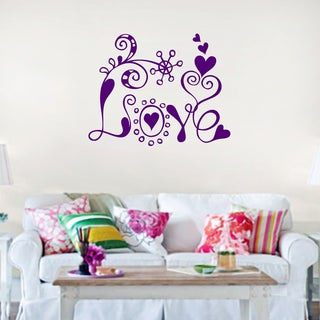 Love Wall Decal 36-inch wide x 28-inch tall