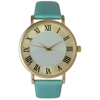 Olivia Pratt Women's Stylish Whtie Center Roman Numeral Watch