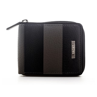 Yacht Men's Leather Stripe Zip-around Bifold Wallet