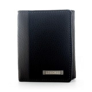 Yacht Men's Leather Grey Trifold Wallet