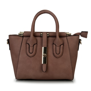 Mllecoco Faux Leather Small Crossbody Satchel Handbag with Removable Strap