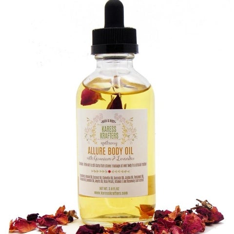 Allure Body Oil, Massage Oi, Bath Oil, Aromatherapy Oil by Karess Krafters Apothecary
