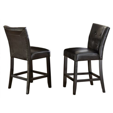 Greyson Living Malone Counter Height Faux Leather (Set of 2)