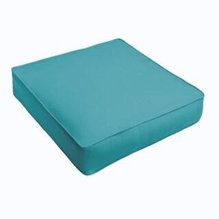 Sloane Aqua Blue Corded Indoor/ Outdoor Square Cushion