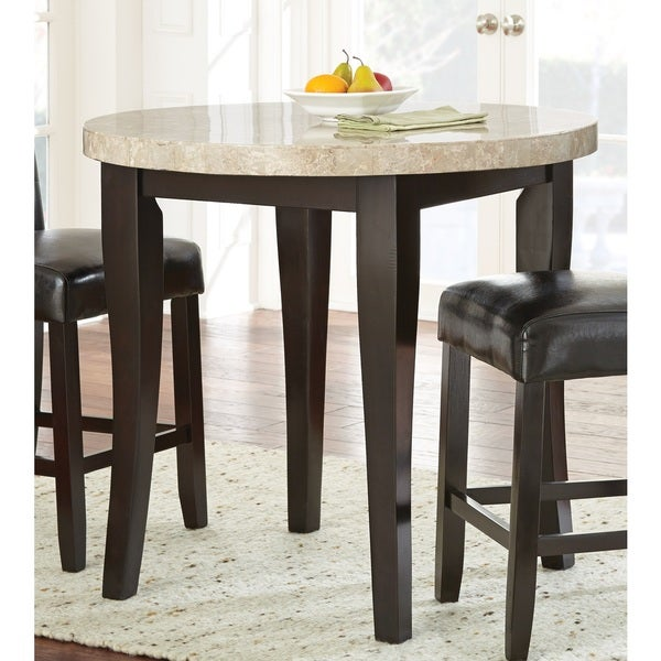 Greyson Living Malone 40 Inch Round Counter Height Table   Espresso