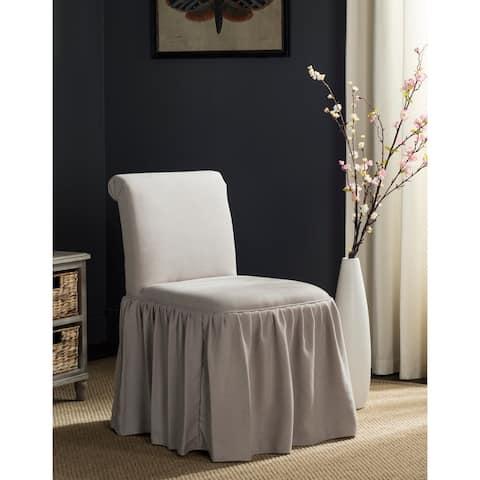 "SAFAVIEH Ivy Taupe Linen Vanity Chair - 19.7"" x 23.6"" x 31.9"""