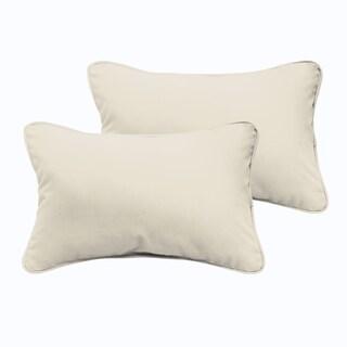 Sloane Ivory 12 x 24-inch Indoor/ Outdoor Pillow Set