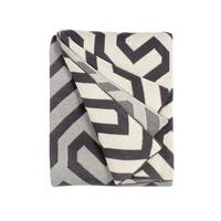 Handmade Symphony Grey Throw Blanket (India)