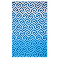 Handmade Symphony Blue Throw Blanket (India)