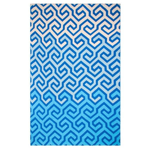 Handmade Symphony Blue Throw Blanket (India)