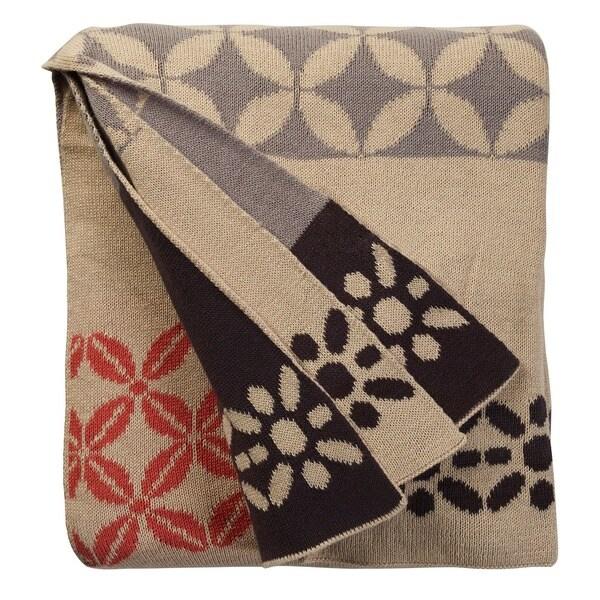 Handmade Riverway Pink Throw Blanket (India)