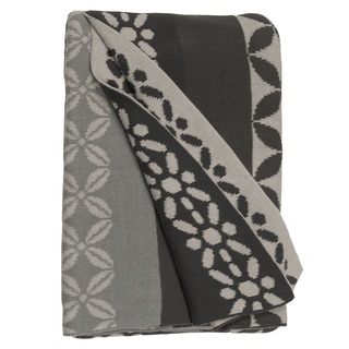 Handmade Riverway Grey Throw Blanket (India)