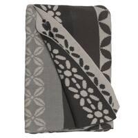 Handmade Riverway Grey Throw Blanket (India)