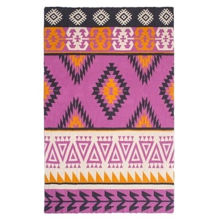Olaias Pink Multicolored Throw Blanket (India)
