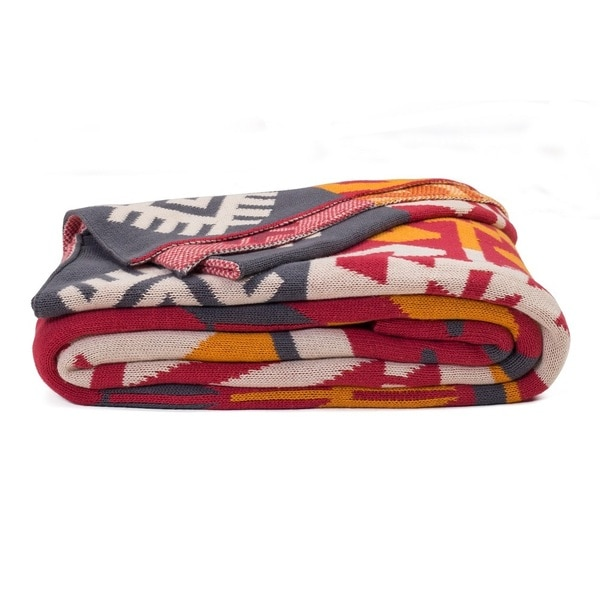 Handmade Olaias Warm Multicolored Throw Blanket (India)