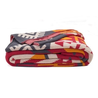 Olaias Warm Multicolored Throw Blanket (India)
