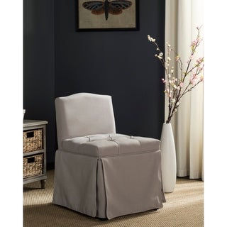 Safavieh Betsy Taupe Linen Vanity Chair