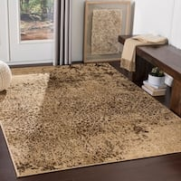 Falls Distressed Damask Area Rug