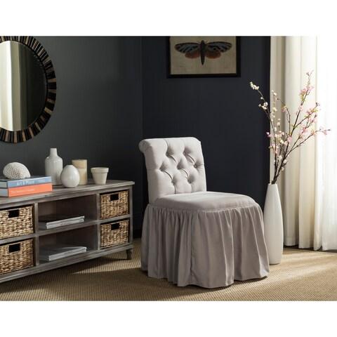Safavieh Allie Taupe Linen Vanity Chair