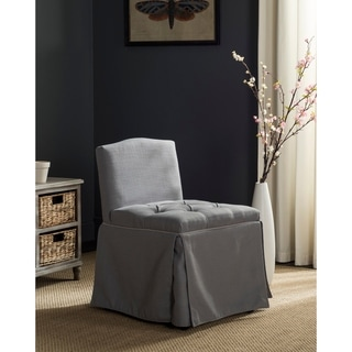 """Safavieh Betsy Grey/ Taupe Cotton Blend Vanity Chair - 19.3"""" x 22.6"""" x 29.5"""""""