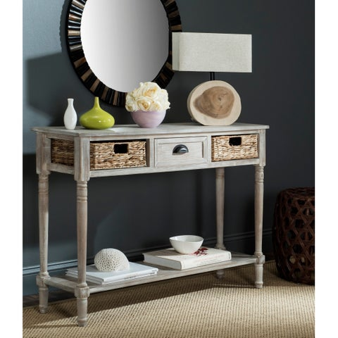 Safavieh Christa Vintage White 3-Drawer Console Storage Table