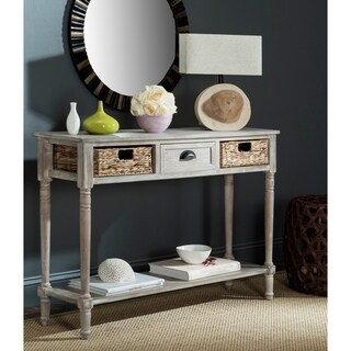 Safavieh Christa Vintage White Washed 3-drawer Storage Console Table
