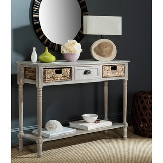 Safavieh Christa Vintage White Washed 3-Drawer Console Storage Table - 44.5