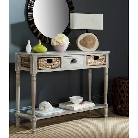 Safavieh Christa Vintage White Washed 3-Drawer Console Storage Table